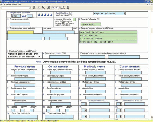 Payroll Corrector - Cfs Tax Software, Inc. - Software For Tax