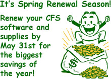 Renew your CFS software and supplies by May 31st for the biggest savings of the year!