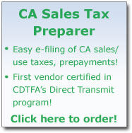 CA Sales Tax Preparer