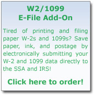 W2/1099 E-file Add-on