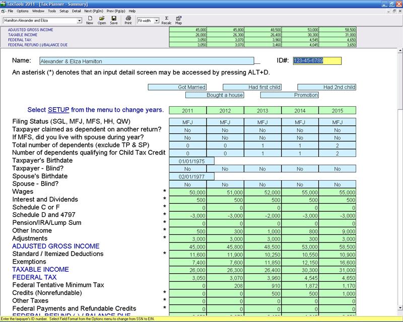 TaxTools CFS Tax Software Inc Software for Tax Professionals – Tax Preparation Worksheet